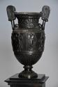 Pair of 19thc Grand Tour style bronze 'Townley Vases' on slate plinths - picture 5