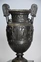 Pair of 19thc Grand Tour style bronze 'Townley Vases' on slate plinths - picture 6