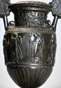 Pair of 19thc Grand Tour style bronze 'Townley Vases' on slate plinths - picture 8