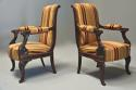 Pair of fine quality 19thc French Empire style rosewood open armchairs - picture 3