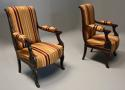 Pair of fine quality 19thc French Empire style rosewood open armchairs - picture 4