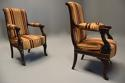 Pair of fine quality 19thc French Empire style rosewood open armchairs - picture 5