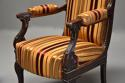 Pair of fine quality 19thc French Empire style rosewood open armchairs - picture 7