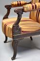 Pair of fine quality 19thc French Empire style rosewood open armchairs - picture 8