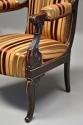 Pair of fine quality 19thc French Empire style rosewood open armchairs - picture 9