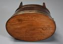 Late 18thc mahogany & brass bound oval cellaret of slender proportion - picture 5