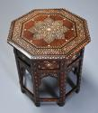Highly decorative 19thc ivory inlaid Anglo Indian octagonal table - picture 1
