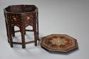Highly decorative 19thc ivory inlaid Anglo Indian octagonal table - picture 10