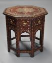 Highly decorative 19thc ivory inlaid Anglo Indian octagonal table - picture 2