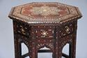 Highly decorative 19thc ivory inlaid Anglo Indian octagonal table - picture 3