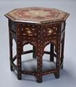 Highly decorative 19thc ivory inlaid Anglo Indian octagonal table - picture 4