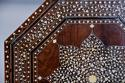 Highly decorative 19thc ivory inlaid Anglo Indian octagonal table - picture 8