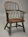 19thc West Country ash hoop back Windsor chair with wonderful patina - picture 2