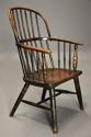 19thc West Country ash hoop back Windsor chair with wonderful patina - picture 3