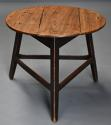 Mid 19th century ash cricket table with original painted base - picture 1
