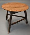 Mid 19th century ash cricket table with original painted base - picture 2