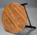 Mid 19th century ash cricket table with original painted base - picture 9