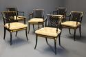 Highly decorative set of six Regency painted & gilt open armchairs - picture 1