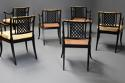 Highly decorative set of six Regency painted & gilt open armchairs - picture 10