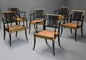 Highly decorative set of six Regency painted & gilt open armchairs - picture 2