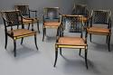 Highly decorative set of six Regency painted & gilt open armchairs - picture 3