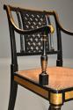 Highly decorative set of six Regency painted & gilt open armchairs - picture 5