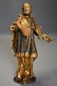 18thc superbly carved polychrome & gilt figure, possibly Saint Peter - picture 2
