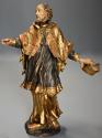18thc superbly carved polychrome & gilt figure, possibly Saint Peter - picture 3
