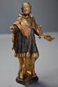 18thc superbly carved polychrome & gilt figure, possibly Saint Peter - picture 4