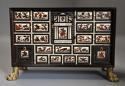 Rare 17thc Italian ebony, ivory & tortoiseshell inlaid table cabinet - picture 1