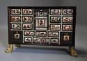 Rare 17thc Italian ebony, ivory & tortoiseshell inlaid table cabinet - picture 2