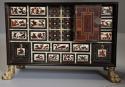 Rare 17thc Italian ebony, ivory & tortoiseshell inlaid table cabinet - picture 4