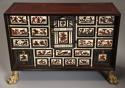 Rare 17thc Italian ebony, ivory & tortoiseshell inlaid table cabinet - picture 5