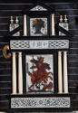 Rare 17thc Italian ebony, ivory & tortoiseshell inlaid table cabinet - picture 7