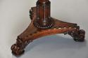 Exceptionally fine 19thc rosewood occasional table with leather top - picture 6