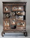 19thc highly decorative large Japanese Meiji period shodana cabinet - picture 2
