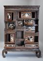 19thc highly decorative large Japanese Meiji period shodana cabinet - picture 4