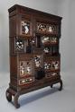 19thc highly decorative large Japanese Meiji period shodana cabinet - picture 5