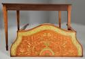 Superb pair of Sheraton revival satinwood & painted console tables - picture 11