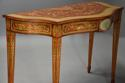 Superb pair of Sheraton revival satinwood & painted console tables - picture 4