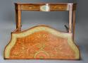 Superb pair of Sheraton revival satinwood & painted console tables - picture 5