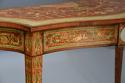 Superb pair of Sheraton revival satinwood & painted console tables - picture 6