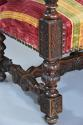 Fine pair of 19thc French walnut open armchairs in the Baroque style - picture 10