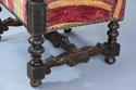 Fine pair of 19thc French walnut open armchairs in the Baroque style - picture 11