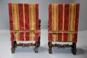 Fine pair of 19thc French walnut open armchairs in the Baroque style - picture 12