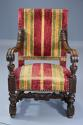 Fine pair of 19thc French walnut open armchairs in the Baroque style - picture 5