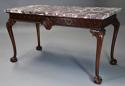Fine Georgian style mahogany side table of William Kent influence - picture 3