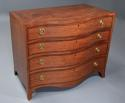 Superb quality serpentine shape satinwood gentleman's dressing chest - picture 2