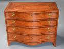 Superb quality serpentine shape satinwood gentleman's dressing chest - picture 4