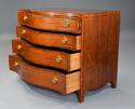 Superb quality serpentine shape satinwood gentleman's dressing chest - picture 5